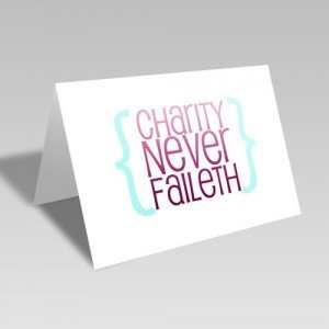 Charity Modern Card - Pink #lds #reliefsociety