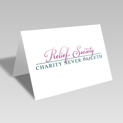 Relief Society & Charity Never Faileth Card - Pink #lds #reliefsociety