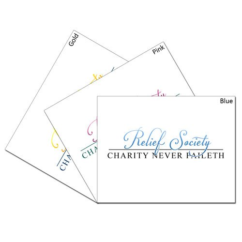 Relief Society & Charity Never Faileth Card Set #lds #reliefsociety