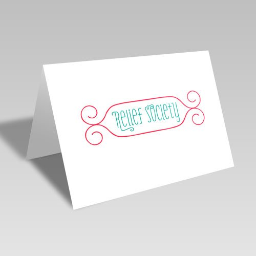 Relief Society Swirly Frame Card - Red #lds #reliefsociety
