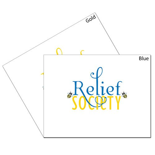 Relief Society Blue & Gold Bee Card Set #lds #reliefsociety