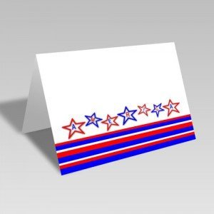 America Stars & Stripes Card