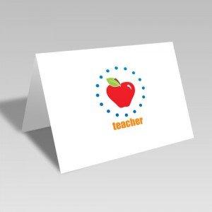 Apple for Teacher Card