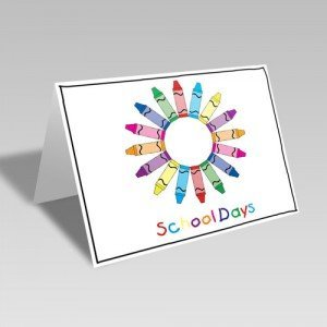 School Crayon Wreath Card