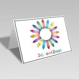 School Crayon Wreath Card
