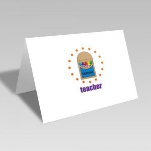 Teacher's Crayons Card