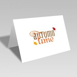 Autumn Time Card
