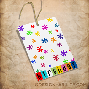Birthday Gift Tags