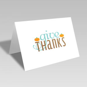 Give Thanks Fancy Card