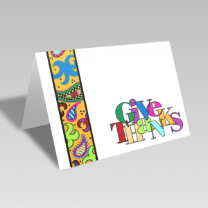 Give Thanks Paisley Strip Card