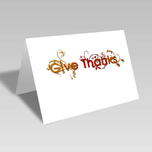 Give Thanks Vines Card: Autumn