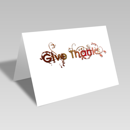 Give Thanks Vines Card: Harvest