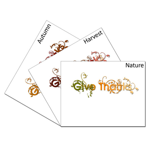 Give Thanks Vines Card Set: 1 of each color