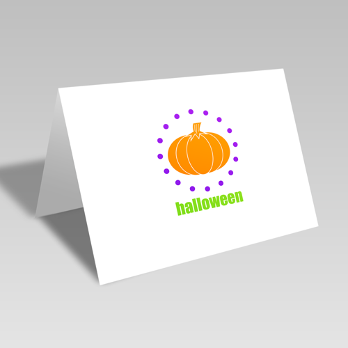 Halloween Pumpkin Circular Card