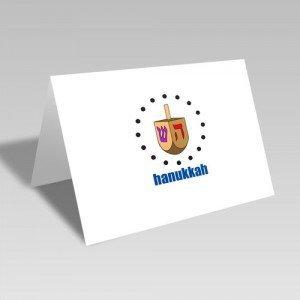 Dreidel Circular Card