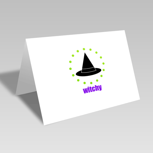 Witchy Circular Card