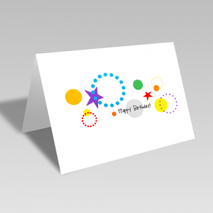 Circular Birthday Card: Rainbow