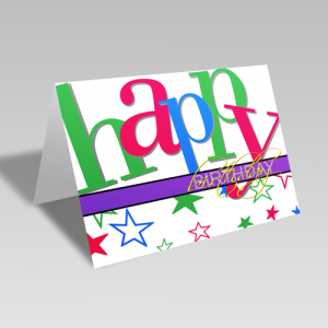 Birthday Pizzazz Card