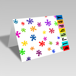 Birthday Star Confetti Card