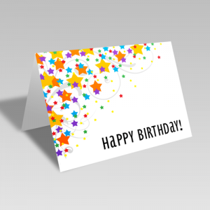 Birthday Star Scatter Card