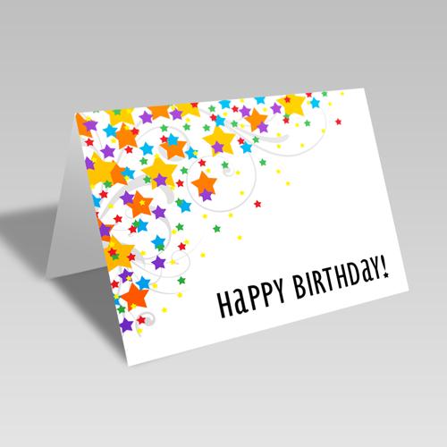 Birthday Star Scatter Card