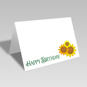 Sunflower Happy Birthday Card