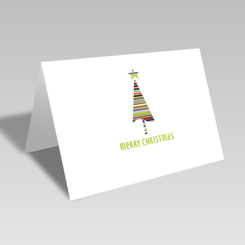 Christmas Fashion Stripes Card