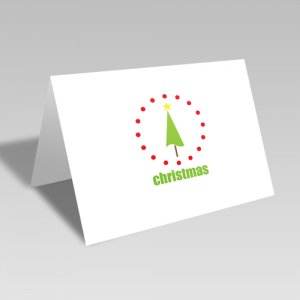 Christmas Tree Circular Card