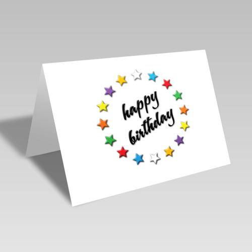 Circle of Stars Birthday Card