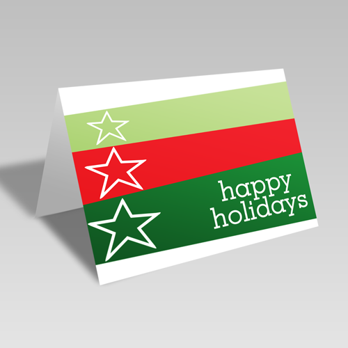Happy Holiday Card: Green Star