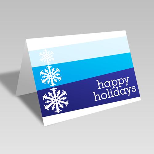 Happy Holiday Card: Blue Snowflake