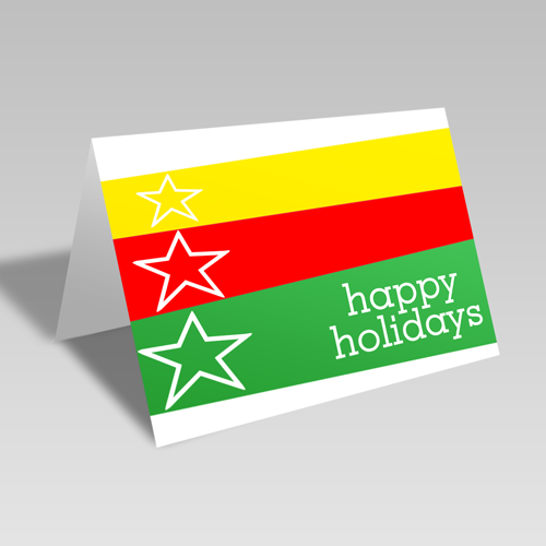 Happy Holiday Card: Yellow Star