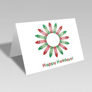 Holiday Crayons Card