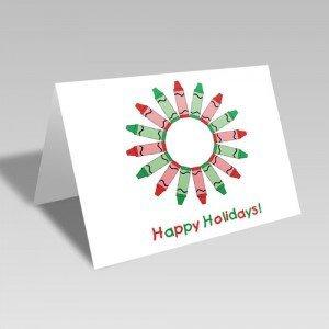 Holiday Crayons Card