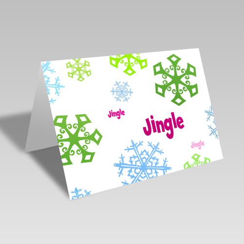 Jingle Snow Card