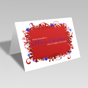 Merry Christmas & Happy New Year Card: Red