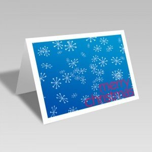 Merry Snowflakes Card: Blue