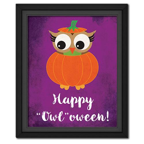 """Happy """"Owl""""oween Picture: Pumpkin"""