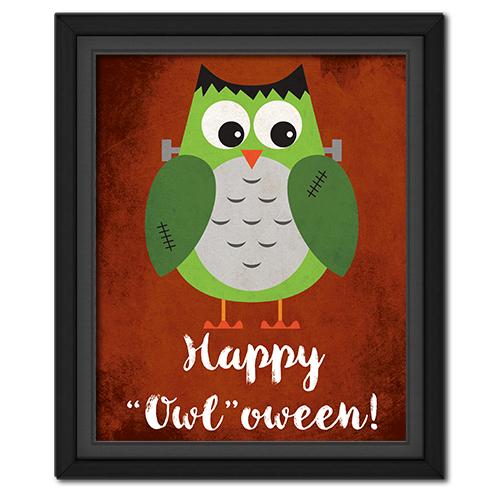 """Happy """"Owl""""oween Picture: Frankenstein"""