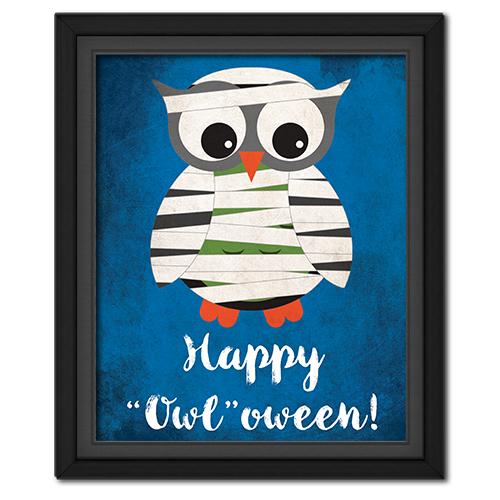 "Happy ""Owl""oween Picture: Mummy"