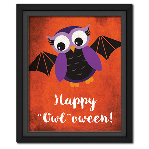 "Happy ""Owl""oween Picture: Bat"
