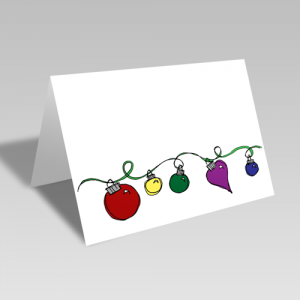 String of Ornaments Card