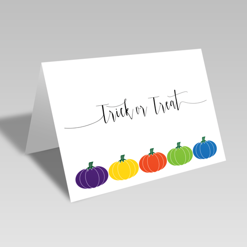Trick or Treat Pumpkins Card