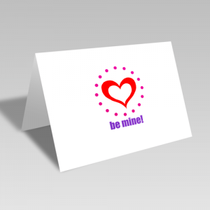 Be Mine Circular Card