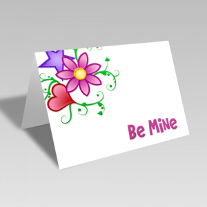 Be Mine Floral Card