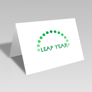 Leap Year Dots Card