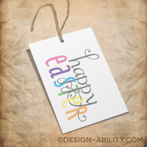 Easter Gift Tags Set