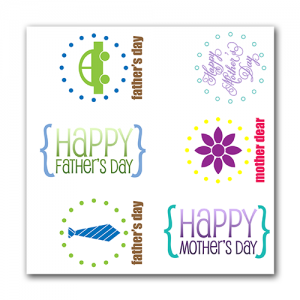Mother's Day & Father's Day Gift Tags Set