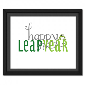 Happy Leap Year Poster