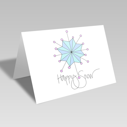 Happy Snow Card